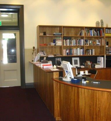 Entrance to Library